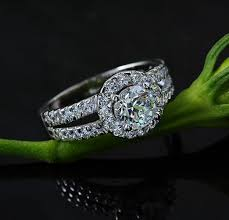 beautiful jewelry rings images Almei fashion cubic zirconia stone silver color rings women jpg