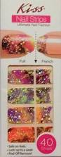 details about kiss nail stick on applique strips french or full 40
