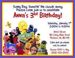 12 printed sesame street or elmo personalized birthday invitations