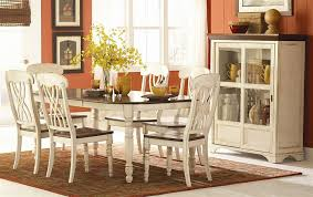 casual dining room chairs amazon com homelegance ohana 7 piece dining table set in white