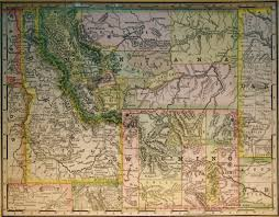 Map Of Montana by Map Of Wyoming Montana Idaho 1887