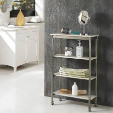 Bathroom Shelving Unit by Home Styles The Orleans 11 In D X 24 In W X 38 In H 4 Tier