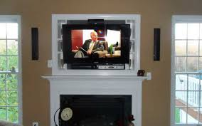 flat screen tv above fireplace ideas stovers