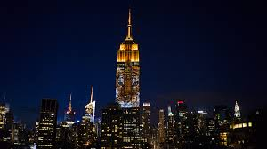 empire state building lights tonight endangered animals light up empire state cnn video