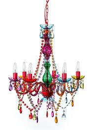 mallori multi color acrylic crystal boho gypsy chandelier in 3