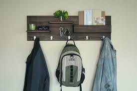 amazon com entryway organizer coat and key rack backpack hooks