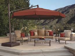 12 Foot Patio Umbrella Treasure Garden Cantilever Aluminum 13 Foot Wide Crank Lift Tilt