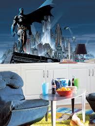 batman chair rail wallpaper mural 6 u2032 x 10 5 u2032 stickers for wall com