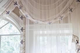 Fleur De Lis Curtains Sheer Valance Curtain Set Bleu Fleur De Lis Trim