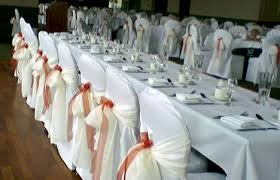 wedding reception chair covers question about chair covers and sashes