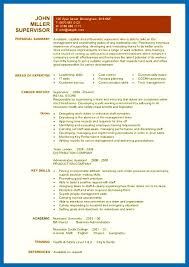 resume template simple resume skills format pic supervisor resume template simple embersky me