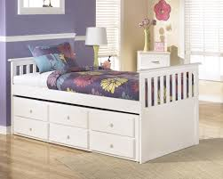 Ashley Furniture White Youth Bedroom Set Lulu Captains Bed With Trundle Storage Beds Kids Room Bernie