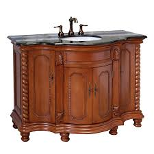 48 Bathroom Vanity With Granite Top Shop Bellaterra Home Light Walnut Undermount Single Sink Bathroom