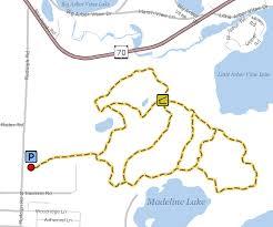 Wisconsin Lake Maps Madeline Lake Trail Vilas County Wisconsin