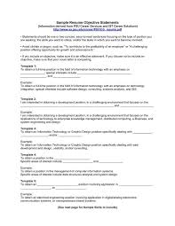 Sample Resume Objective Sentences by Good Resume Objective Statement Template Idea