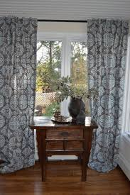 hand crafted pair of decorative designer window curtains drapery