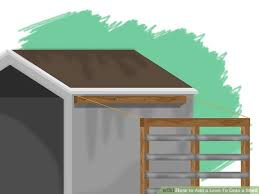 How To Build A Pole Shed Roof by 6 Ways To Add A Lean To Onto A Shed Wikihow