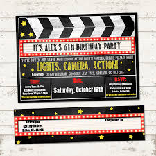 movie birthday party invitations u2013 gangcraft net
