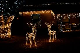 Images Of Christmas Decorated Houses House With Christmas Icicle And Reindeer Lights Picture Free