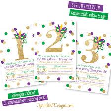 mardi gras collar etsy mardi gras birthday invitation purple green gold glitter 1st