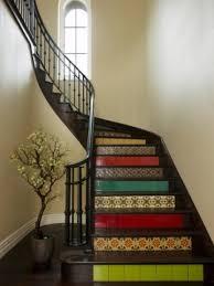 stair riser tile ideas a more decor