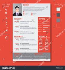 minimalist cv resume template simple design stock vector 329616995