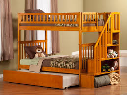 Woodland Bunk Bed Woodland Staircase Trundle Bunk Bed Atlantic Furniture