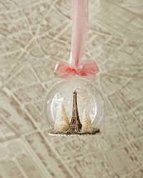 foster co eiffel tower globe ornament
