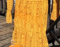 yellow lace dress etsy