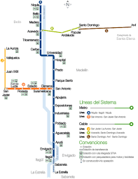 La Subway Map Medellin Metro Map Colombia