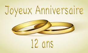 12 ans de mariage carte anniversaire mariage 12 ans bague or