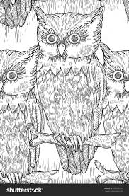 261 best owl coloring pages for adults images on pinterest