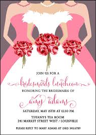 bridal luncheon favors bridesmaids luncheon invitation bridal brunch invitation wedding