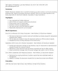 Pharmacy Technician Resume Example Professional Stockroom Assistant Templates To Showcase Your Talent