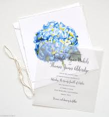 blue watercolor flower wedding invitations mospens studio