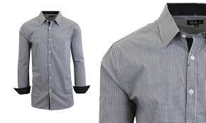 74 off on men u0027s long sleeve dress shirt groupon goods