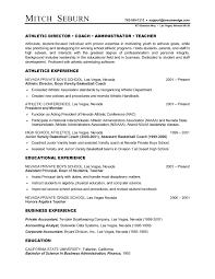 athletic resume athletic director resume