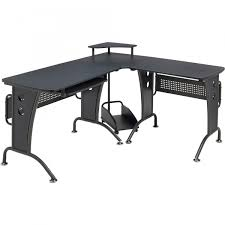 large corner computer desk with keyboard shelf home office piranha
