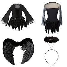 Fallen Angel Halloween Costume Dark Angel Costumes Dress Halloween Black Fallen Angel Cosplay