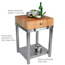 stainless steel butcher table buy john boos cucla24b cucina laforza butcher block stainless