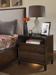 Bedroom Nightstand Ideas Bedroom Befitting Nightstand In Walnut And One Drawer In Bedroom