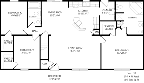 enchanting 14 ranch style floor plans open small home homeca