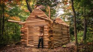 wooden log cabin log cabin build you can do this