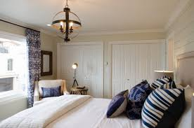 White Beach Furniture Bedroom Coastal Room Of The Day Nautical Navy White Beach House Guest Suite