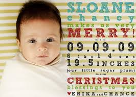 card birth announcement combo decore