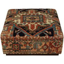 Ottoman Carpet Antique Heriz Carpet Ottoman On Casters For Sale At 1stdibs