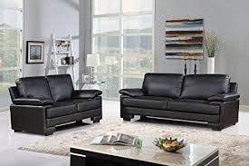 Modern Faux Leather Sofa Modern Faux Leather Sofa And Loveseat Living Room Furniture Set