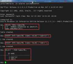 Create Table In Oracle How To Install Oracle Database 12c On Rhel Centos 7