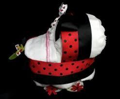 Ladybug Themed Baby Shower Cakes - diaper bassinet baby shower centerpiece gift diaper cake