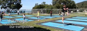 built in the ground trampolines round designs